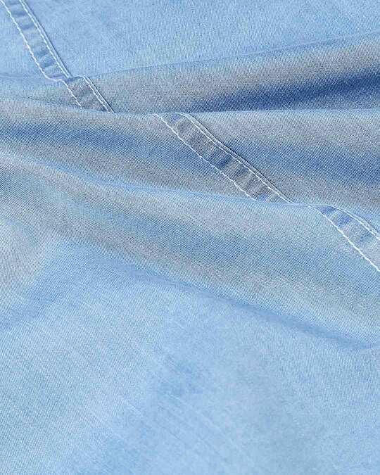 Shop Varsity Blue Denim Jacket