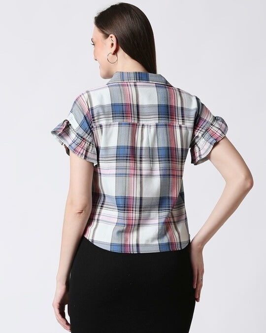 Shop Womens Checks Tie Up Shirt-Full