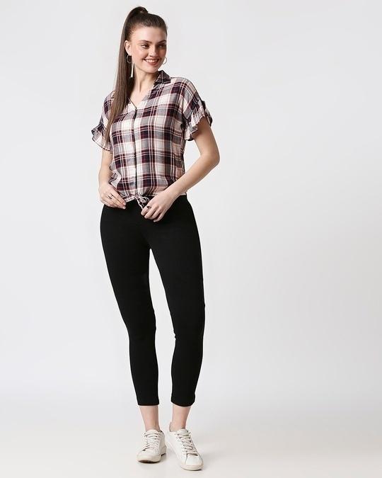 Shop Womens Checks Tie Up Shirt