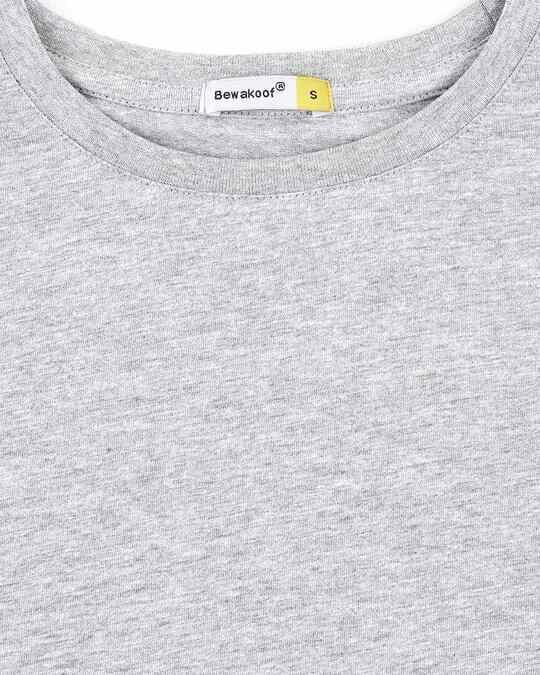 Shop Women's Half Sleeve Grey Melange T-Shirt