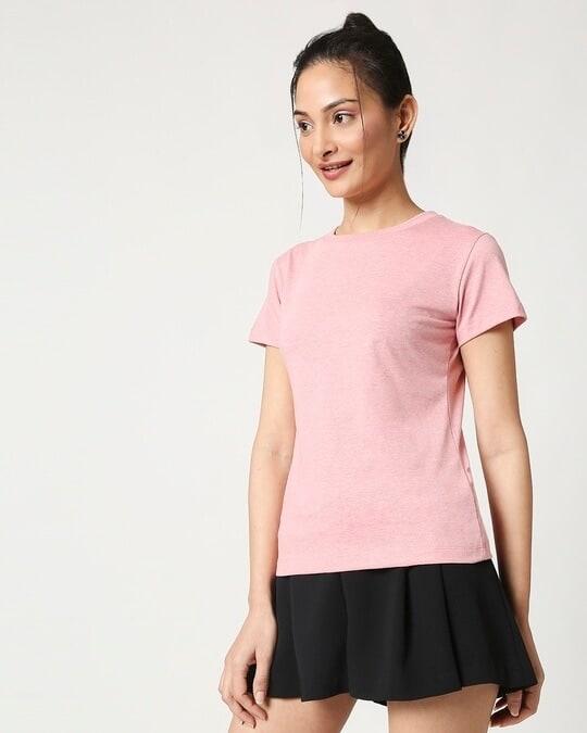 Shop Women's Half Sleeve Melange T-Shirt-Design