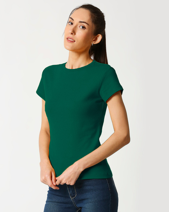 Shop Women's Half Sleeve Rib T-shirt-Design
