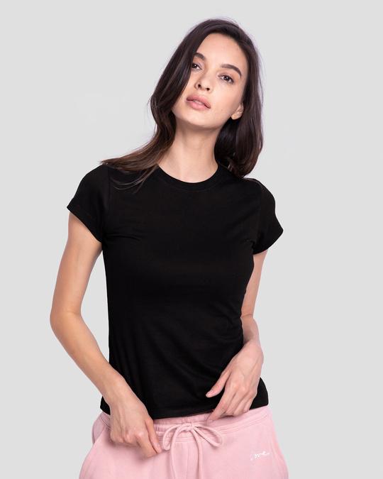 Shop Women's Half Sleeve T-shirt-Combo-Black-Black-Back