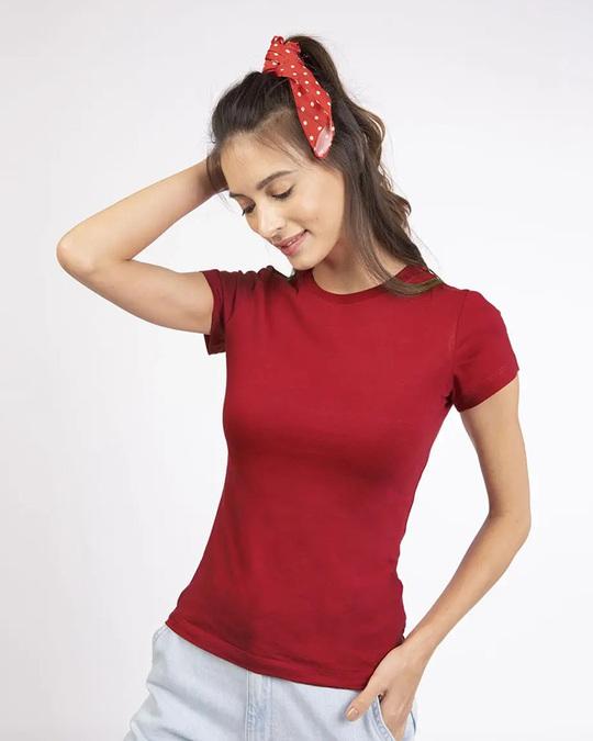 Shop Women's Half Sleeve T-shirt-Pack of 2 Combo Whtie-Red