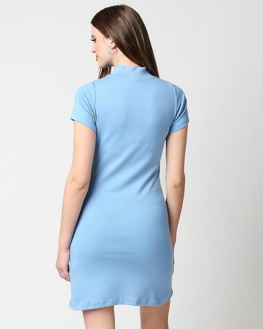 Shop Women's High Neck Ribbed Dress-Full