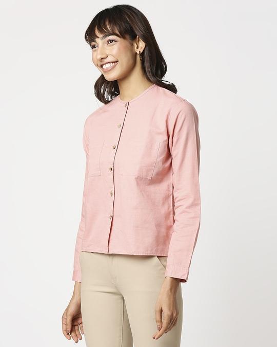 Shop Women's Linen Full Sleeves Pocket Shirt-Design