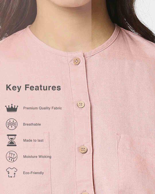 Shop Women's Linen Full Sleeves Pocket Shirt