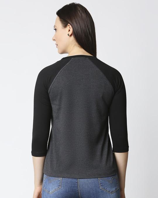 Shop Women's Melange Raglan T-Shirt-Full