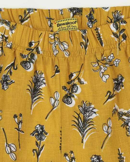 Shop Women's Mustard Printed Pyjama