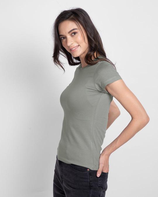 Shop Women's Plain Half Sleeve T-shirt - Pack of 2 (Grey 11-White 01)-Full