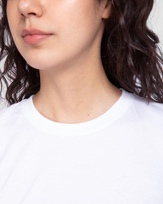 Shop Women's Plain Half Sleeve T-shirt - Pack of 2 (Grey 11-White 01)
