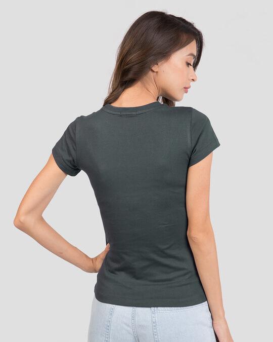 Shop Women's Plain Half Sleeve T-shirt - Pack of 2 Misty Pink - Nimbus Grey