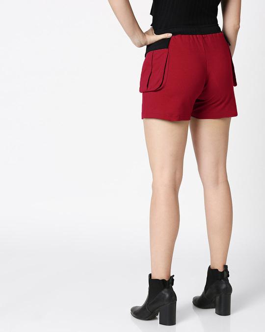 Shop Women's Pocket Red Lounge Shorts-Design