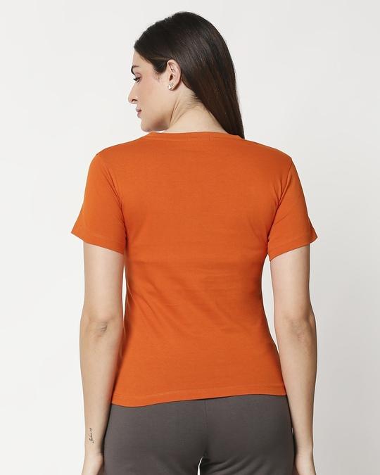 Shop Women's Printed Orange Lounge T-shirt-Design