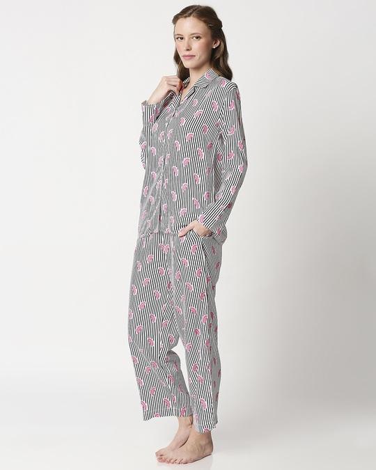 Shop Women's Printed Shirt & Pyjama Night Suit-Design