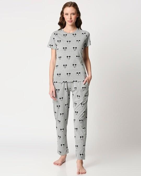 Shop Women's Printed T-Shirt & Pyjama Night Suit-Back