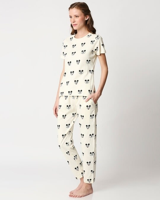 Shop Women's Printed T-Shirt & Pyjama Night Suit-Design