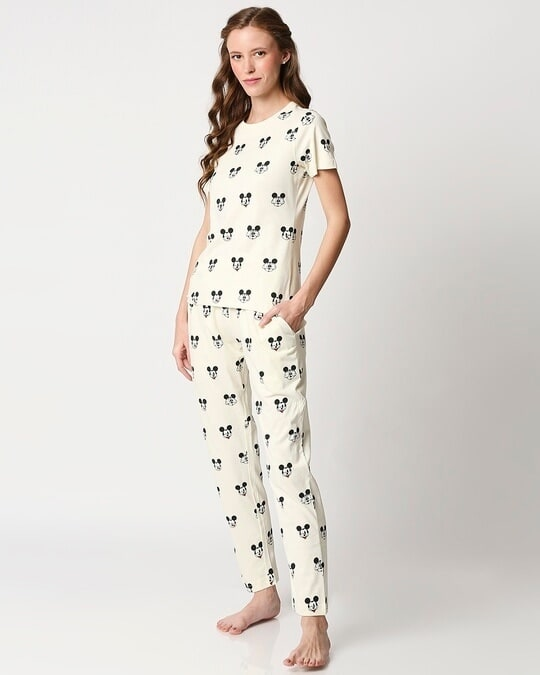 Shop Women's Printed T-Shirt & Pyjama Night Suit