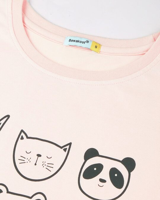 Shop Women's Printed T-shirt & Shorts Night Suit