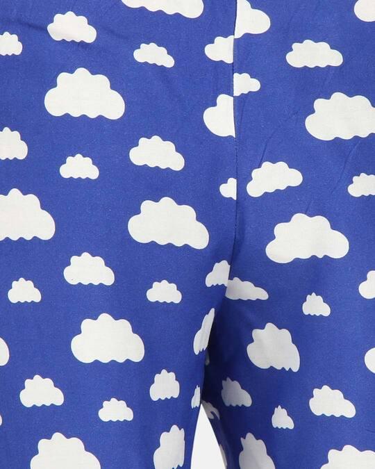 Shop Smugglerz Women's Pyjamas Clouds Blue