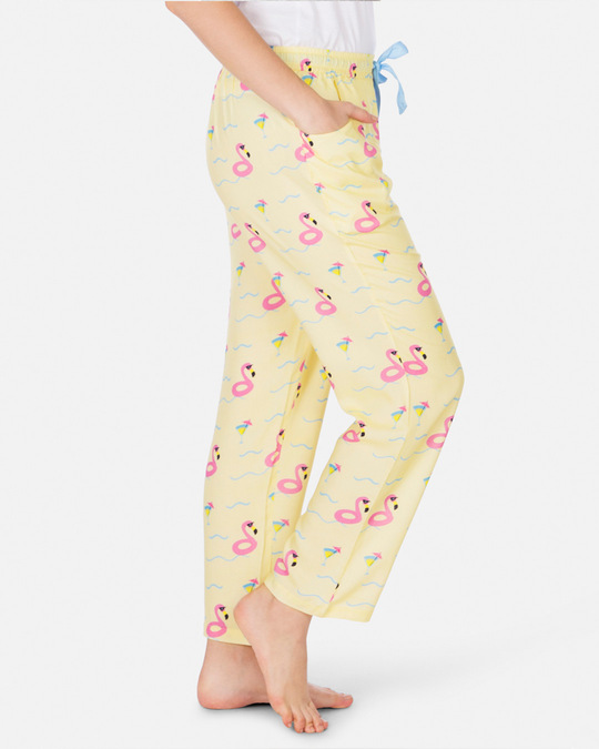 Shop Smugglerz Women's Pyjamas Flamingo Float Pink-Back