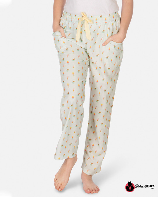 Shop Women's Pyjamas Icecream Lt.Blue-Front