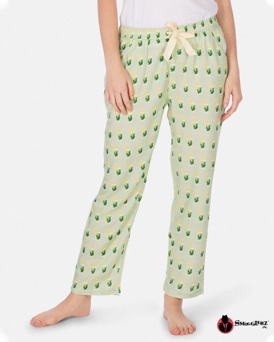 Shop Smugglerz Women's Pyjamas Mohito Green-Front