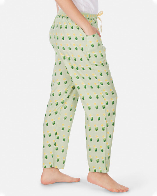 Shop Smugglerz Women's Pyjamas Mohito Green-Back