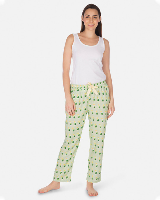 Shop Smugglerz Women's Pyjamas Mohito Green-Full