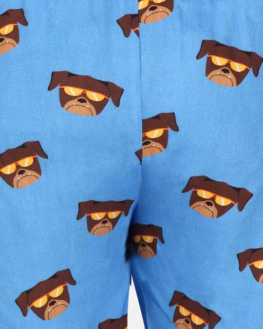 Shop Smugglerz Women's Pyjamas Pug Blue