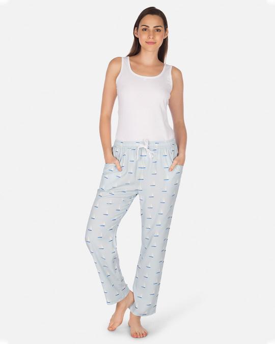 Shop Smugglerz Women's Pyjamas Sailboat Blue-Full