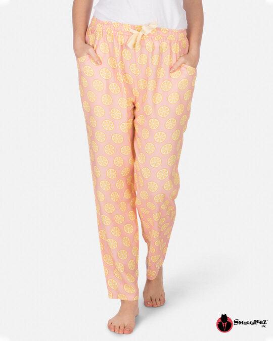 Shop Smugglerz Women's Pyjamas Sicilian Lemon Pink-Front
