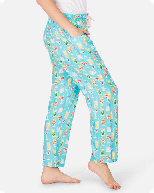 Shop Smugglerz Women's Pyjamas Summer Cocktail Blue-Back