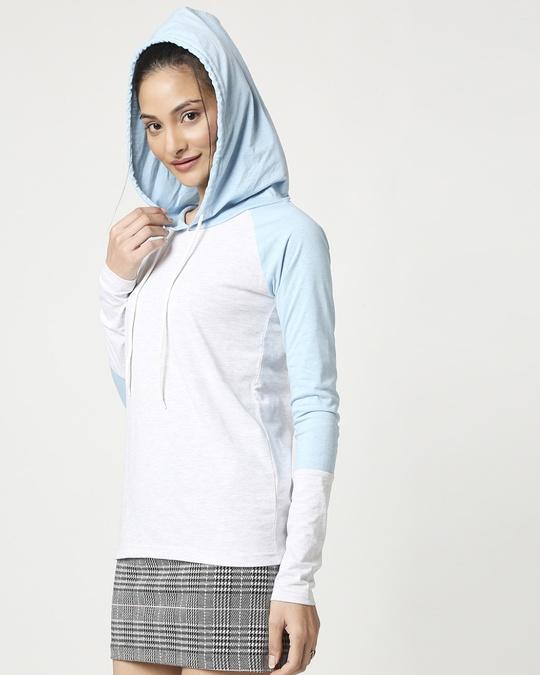 Shop Women's Raglan Melange Hoodie-Design