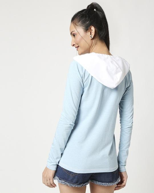 Shop Women's Raglan Melange Hoodie-Full