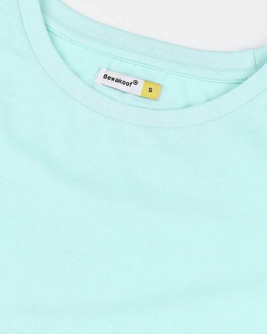 Shop Women's Solid Light Blue Lounge T-shirt