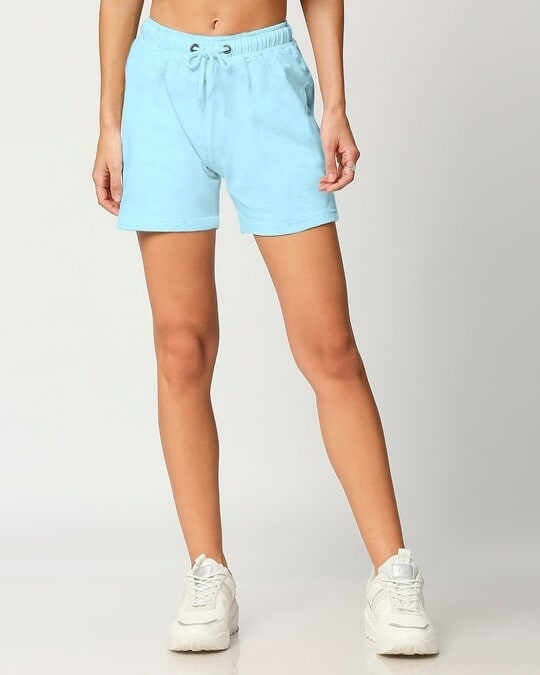 Shop Women's Solid Lounge Shorts-Back