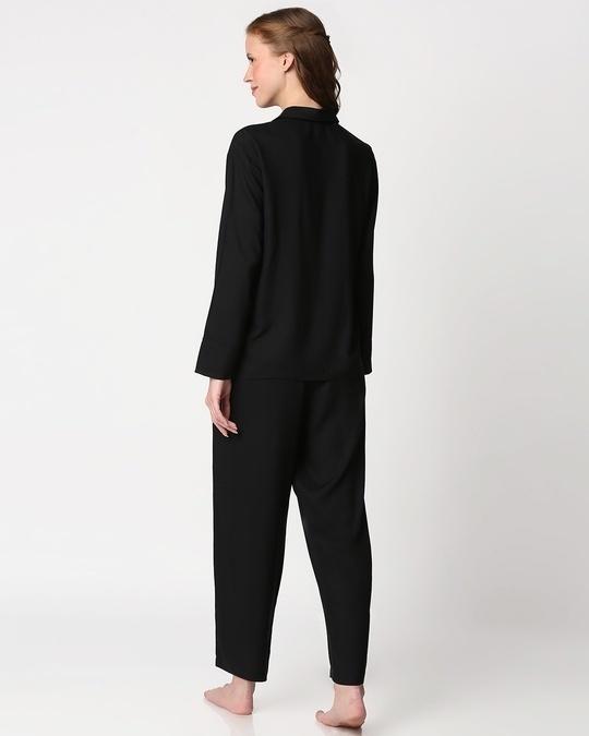 Shop Women's Solid Shirt & Pyjama Night Suit-Full