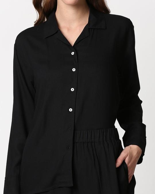 Shop Women's Solid Shirt & Pyjama Night Suit