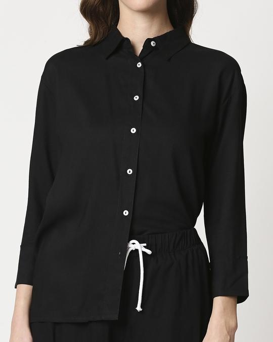 Shop Women's Solid Shirt & Shorts Night Suit