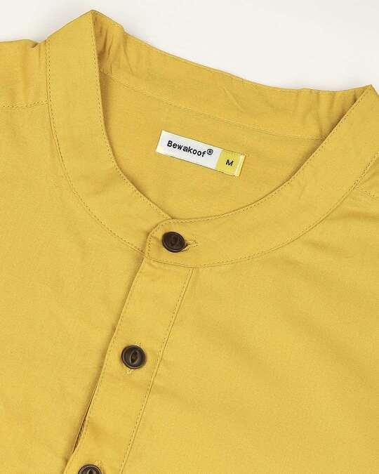 Shop Women's Solid Yellow Short Kurta