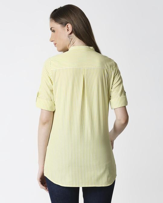 Shop Women's Yellow Yarn Dyed Striper Tunic-Design