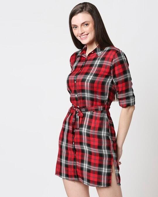 Shop Womens Checks Shirt Tunic-Design