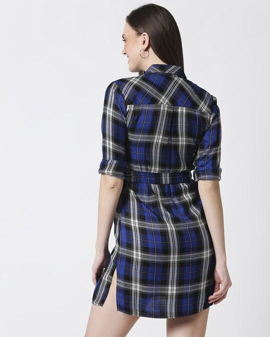 Shop Womens Checks Shirt Tunic-Full