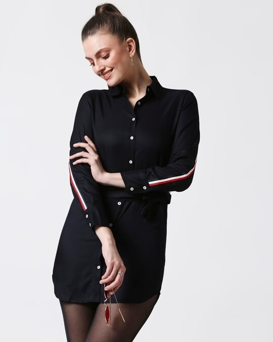 Shop Womens Solid Tape Tunic-Front
