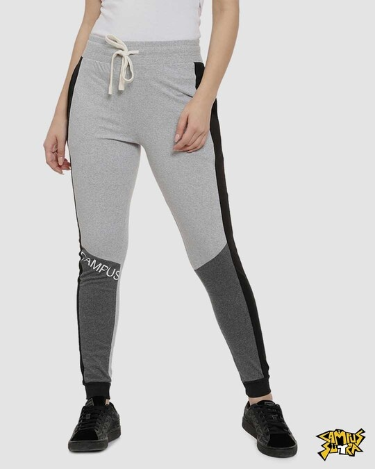 Shop Campus Sutra women's Stylish Printed Joggers-Front