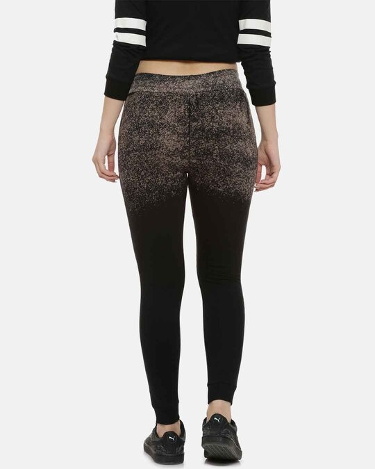 Shop Campus Sutra women's Stylish Sprayed Joggers-Back