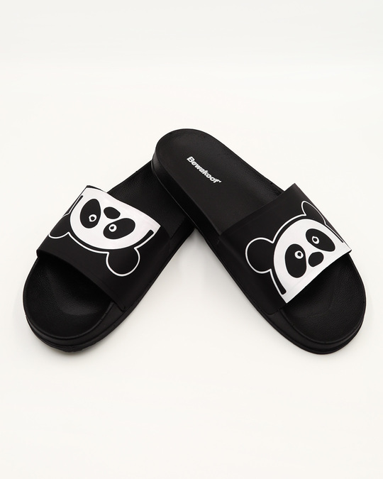 Shop Women Upside Down Panda Sliders-Front