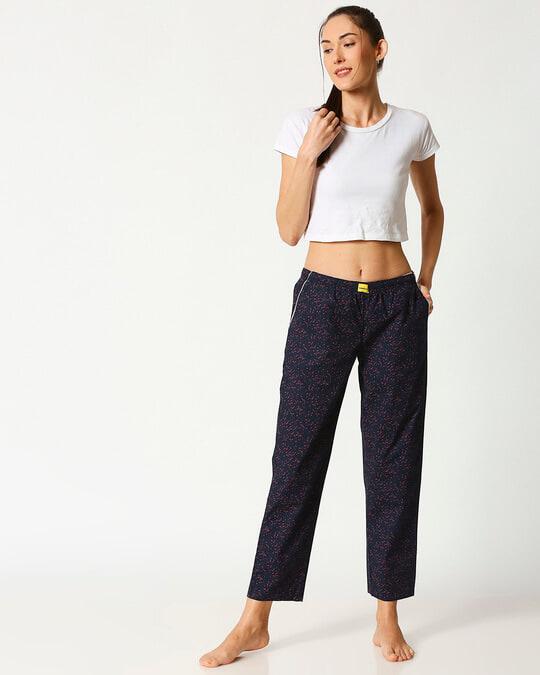 Shop Crimson Leaves Women's Pyjama