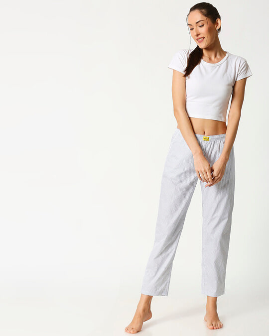 Shop White AOP Women's Pyjama